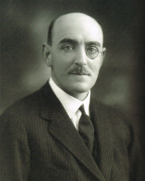 Black and white photograph of Sir Herbert Cayzer,1st Baronet of Tylney, M.P., later created 1st Baron Rotherwick