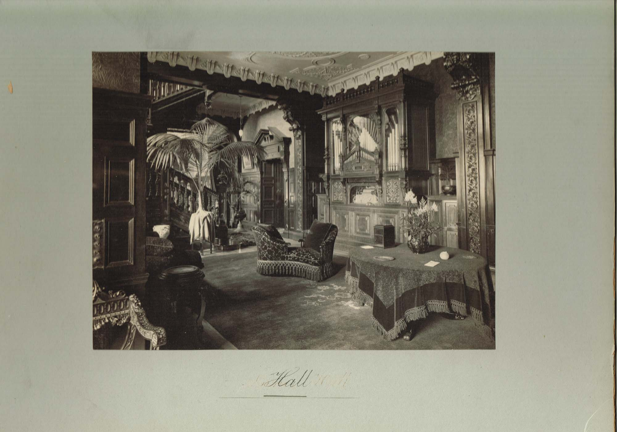 Black and white photograph of the Hall at Ralston