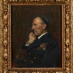 Framed portrait of Admiral Sir John Jellicoe, Commander of the Grand Fleet painted by Sir Arthur Stockdale Cope, 1921