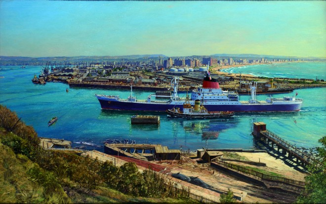 Painting of the Southampton Castle 1968 by Claude Muncaster