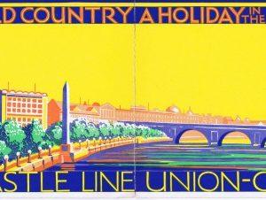 Colour wrap-around illustration for cover of Union-Castle brochure 1929/1930