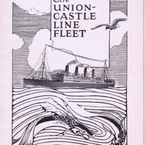 Black and white front cover of The Union-Castle Line Fleet brochure 1922 (interactive flipbook)