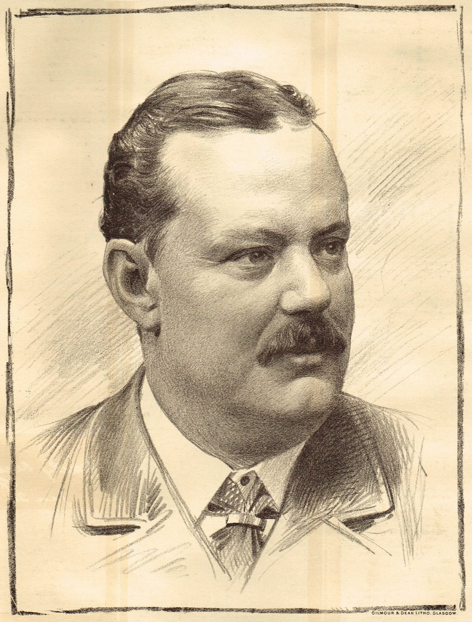 Lithograph of Charles Cayzer 1896