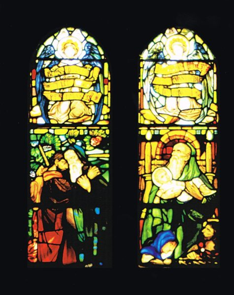 Stained glass memorial window in Cardonald