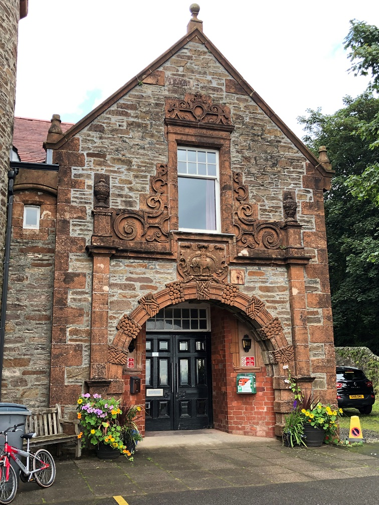 Ornate entrance to Burgh Hall