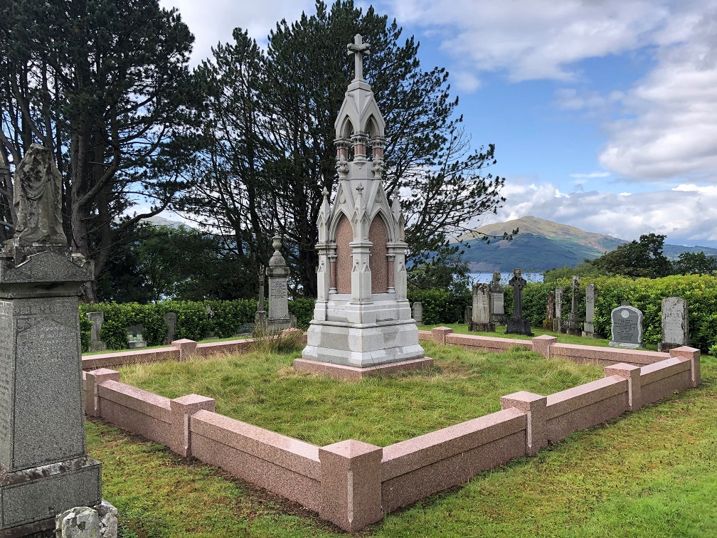 View from the Cayzer burial plot towards Loch Long