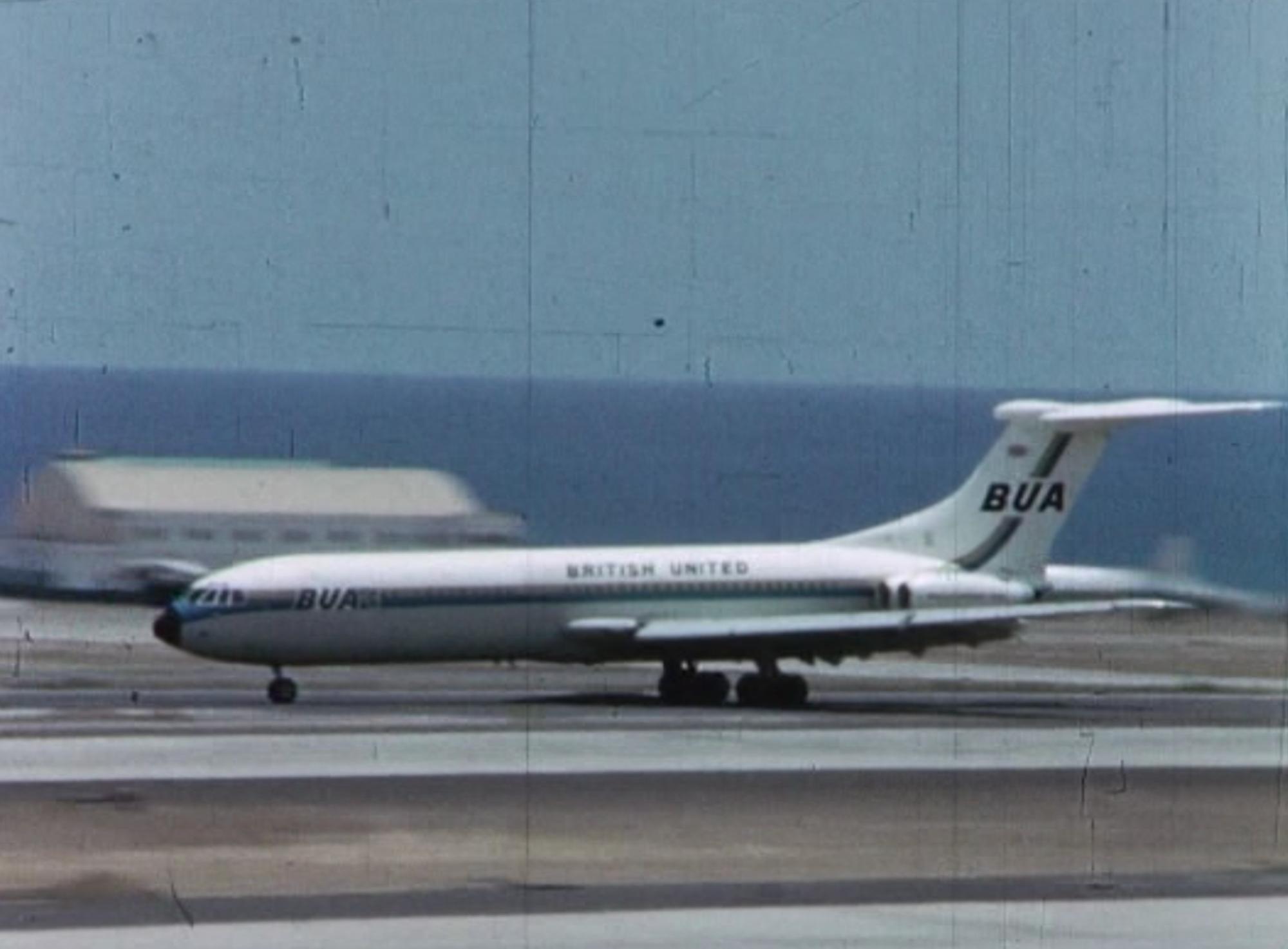 BUA plane taking off