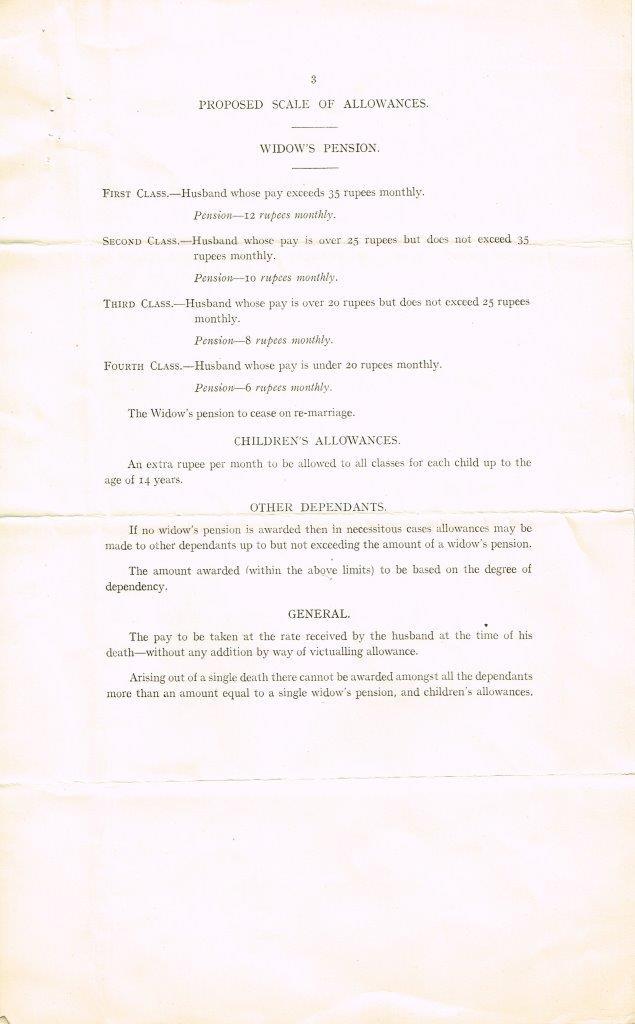 Third page of document Seamen's Compensation Scheme - Lascars (1915)